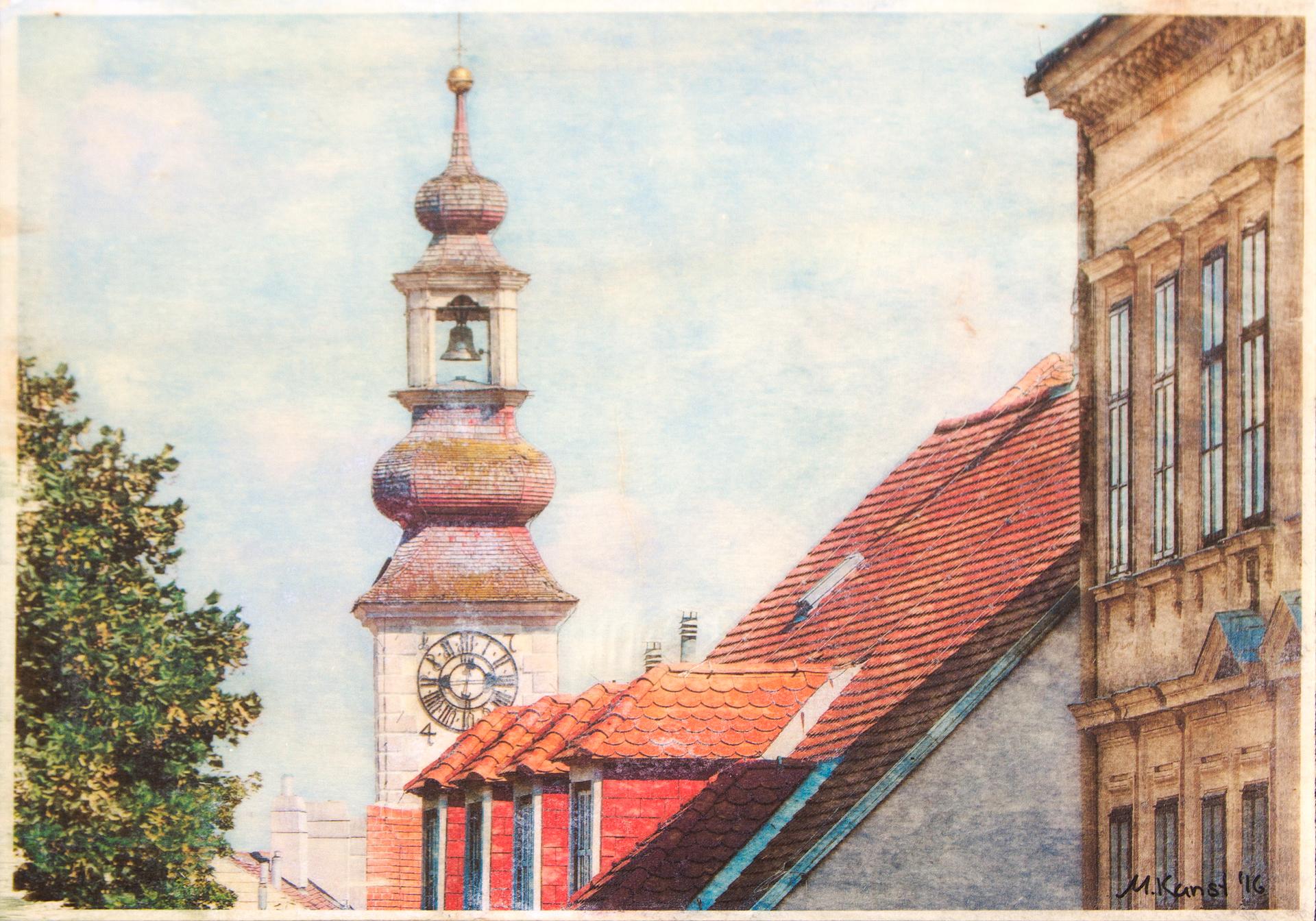 Mödling Rathausturm/Dächer