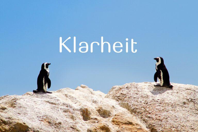 Klarheit Pinguine ZA